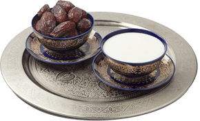 Halva with dates and milk